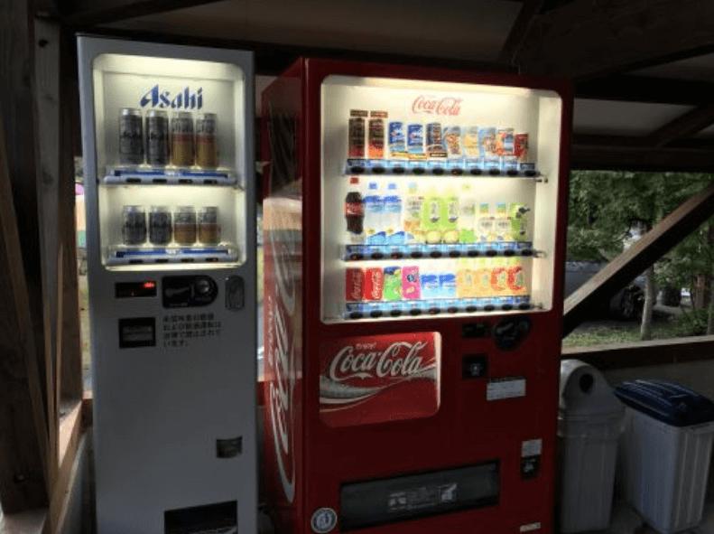 キャンプ場自動販売機