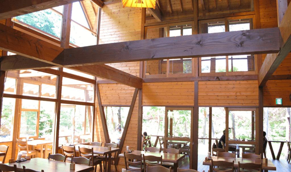 天守閣自然公園キャンプ場にあるカフェ